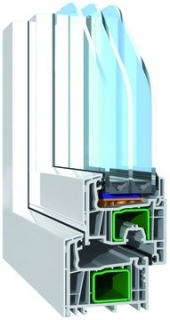 PVC-Fenster Streamline Alu